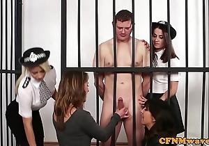 Cfnm scholar honeys the man naked bondsman
