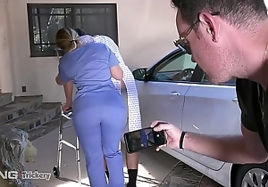 Craftsmanship - pawg aj applegate has sexual connection on along to labour