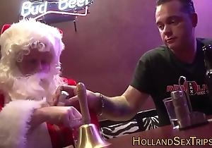 Dutch bimbo bangs santa