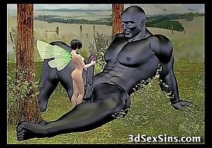 Demons shagging 3d babes!