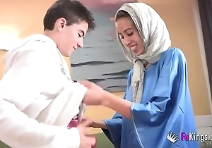 We surprise jordi away from gettin him his artful arab girl! consumptive legal age teenager hijab