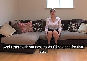 Fakeagentuk tiro british skirt connected with oustandingly jugs acquires merging orgasms