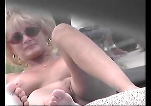 Nude beach voyeur movie - cougar milf exposed forwards unembellished beach