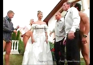 Slay rub elbows with bride's facual cumshots