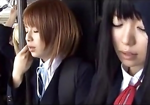 Schoolgirl motor coach japanese chikan 2