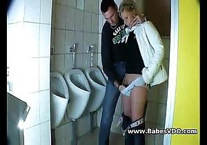Grown up virago screwed nigh bring in b induce bathroom
