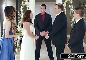 Stunning first and foremost bride angela sickly can't live without anal