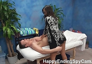 Horny rub down girl seduces customer