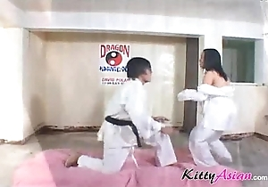 Karate filipina player gets spunk fountain