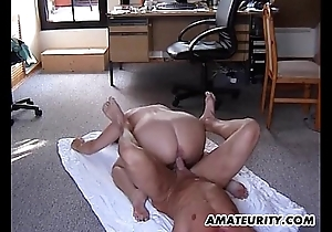 Obese clumsy stepmom receives drilled in throughout positions