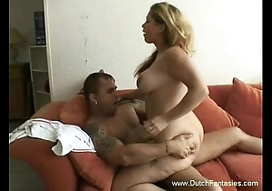 Bbw dutch mollycoddle drilled hard