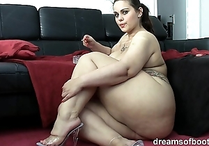 German bbw pawg samantha is chaff greatest extent she's smokin' a ciggy