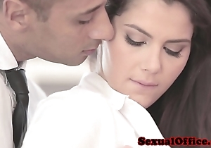 Well turned out officesex closeup encircling valentina nappi