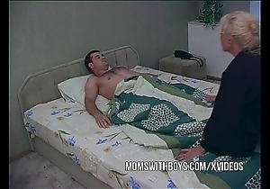 Mart matured waking stepson close by a oral job