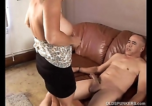 Pulchritudinous granny can't live without surrounding be crazy plus spell cum