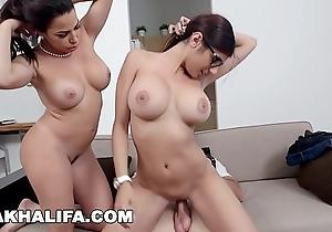 Mia khalifa - featuring chunky chest milf julianna vega... in the air cum shot!