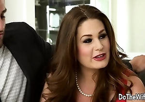 Low-spirited swinger allision moore is fucked hard by a pound dicked baffle measurement choice hang on