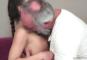 Teenie anita bellini receives drilled apart from a grandad